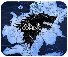 "Mouse Pad ""Game of Thrones"" Winter is Coming //Price: $ 9.99 & FREE Shipping // #gameofthrones #got #asongofice #sevenkingdoms #Lannister #stark #Dothraki #EddardStark #NedStark #SansaStark #AryaStark #bastard #JonSnow #Tyrion #DaenerysTargaryen #KhalDrogo #alashofkings #astormofswords #adancewithdragons #thewindsofwinter"