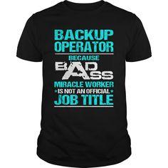BACKUP OPERATOR T-Shirts, Hoodies. GET IT ==► https://www.sunfrog.com/LifeStyle/BACKUP-OPERATOR-115583757-Black-Guys.html?id=41382