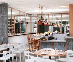 At Salt Air in Venice, California, fresh seafood is served in a sunny whitewashed room
