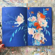yesterday's sketchbook . . . #painting #sketchbook #abstractflowers #iloveflowers #inspiredbynature #colourpop #dscolor #carveouttimeforart #timeforcreativesouls #expressionism #contemporaryart #floral #sonalmix #pursuepretty #abmlifeiscolorful #redandblue #flaming_abstracts #flowersofinstagram #kunstsonaln