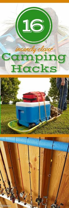 17 Camping Hacks, Tips, & Tricks You\'ll Wish You Knew Earlier: Hack your camping trips with these clever camping ideas, tips, and tricks. These fun camping ideas take your outdoor adventures to the next level. Plus: discover storage ideas for camping equipment you\'ll wish you\'d been using all along.