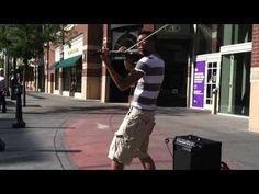 Electro-violinist, Bryson Andres performing in Spokane last September.