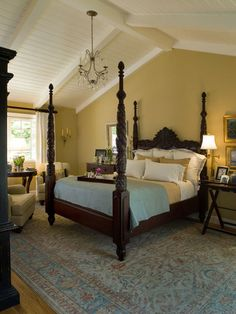 Perfect bed for a British colonial Bedroom. by Kathleen Burke Design