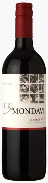 CK Mondavi. Scarlet Five. California. Had this again after about 11 weeks. This is one of my favorite wines for dinner at home. Low priced but good taste.