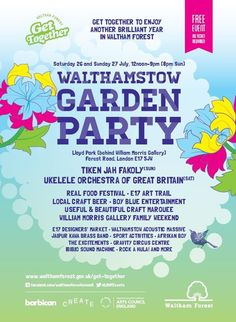 Barbican, Create London and Waltham Forest Council organise the first ever Walthamstow Garden Party, which proves to be an awesome day out. Hoping I can attend the next one without a crippling hangover...