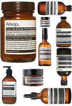 I love Aesop cosmetics.
