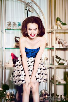 07. Glamour - Lily Collins-000008 Ellen von Unwerth Photoshoot for Glamour July 2013 - Lily Collins Gallery