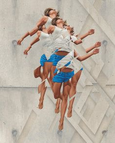 American artist James Bullough presents a collection of disjointed figurative characters, fragmenting into their surrounding space.