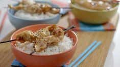 Brochette de poulet au sésame | Cuisine futée, parents pressés Easy Weeknight Meals, Quick Meals, Quebec, Meal Prep, Chicken Recipes, Clean Eating, Food Porn, Nutrition, Favorite Recipes