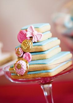 Pretty tiered cookie tower