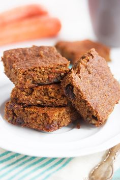 Gluten-free and paleo Carrot and Zucchini Bars