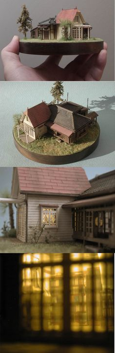 """Totoro house"" scale 1:144 4inches"