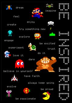 Inspirational Poster for all Game Developers.  Keep creating! Keep designing! Keep the fun doing it and stay insprired!