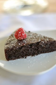 Gluten Free Quinoa Chocolate Cake. The BEST! I used 1/2 cup Truvia in place of sugar. New fave!