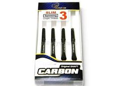 Shafts 117102: Cosmo Dart Shafts Carbon Slim-Spinning C-Black Size #3(24Mm) - 4 Shafts Total BUY IT NOW ONLY: $38.0