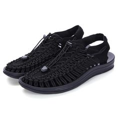 Men's Comfortable Outdoor Sports Sandals Mens Fashion Shoes, Sport Sandals, Daily Fashion, All Black Sneakers, Casual, Sports, Blue, Outdoor, Style