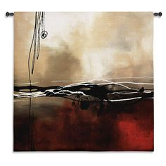 Fine Art Tapestries Laurie Maitland 'Symphony Red and Khaki' I Wall Tapestry