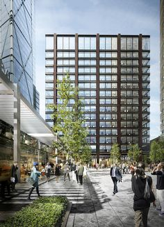 Amazon to Occupy Stalled Foster Scheme,© Foster + Partners with Brookfield