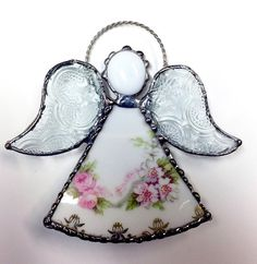 China and Stained Glass Angel von Whimzeeglass auf Etsy