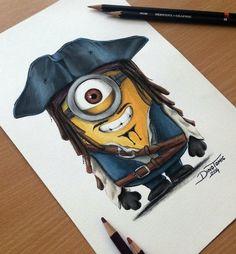 Tattoo Artist Draws Delightful Pop Culture Characters Using Colored Pencils - DesignTAXI.com
