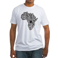 Africa in a zebra camouflage T-Shirt on CafePress.com