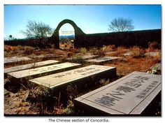 The Chinese section of Concordia.- Concordia - A Desert Graveyard - El Paso Texas by Jay W. Sharp - via desertusa.com