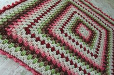Woodland Crochet Granny Square Baby Blanket Afghan by tillietulip