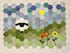 Patchwork diy sheep table cover hexagon