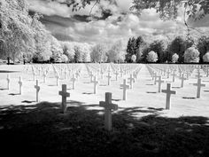 Infrared US military cemetery, Epinal, France