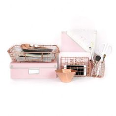 Pink and Rose Desk Collection