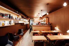 A cosy and beautifully designed interior, Cafe Slatkine Geneva. Geneva, Cosy, Conference Room, Interior, Table, Furniture, Home Decor, Decoration Home, Room Decor
