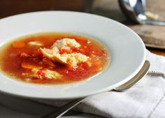 Chicken Soup with Quinoa - Quinoa is found in the aisle with either dried beans or dried grains and noodles ... its not expensive and has a pleasant flavor .. use in place of rice