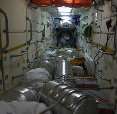 Inside the Space Station - closet space is limited. Some modules are pretty full. Chris Hadfield, Astronomy Science, Nasa History, Building Concept, Space Rocket, International Space Station, Space Program, Space Shuttle, Space Travel