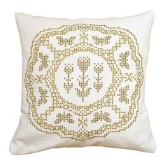 Image of Fanciful Flutterbies Cross Stitch Cushion Kit