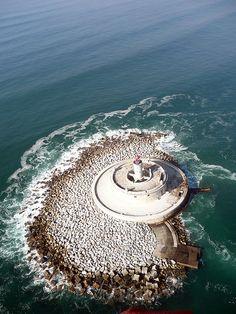 Lighthouse, Forte de São Lourenço, Bugio, Portugal
