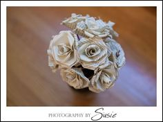 DIY Tutorial: Paper Roses from Books or Sheet Music! | Capitol Romance ~ Real DC Weddings