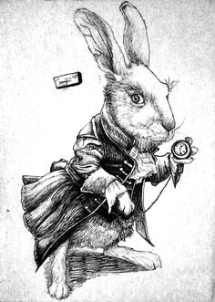 White Rabbit by Yankeestyle94.deviantart.com on @deviantART