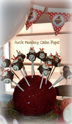 Pop Art Minis: Sock Monkey Cake Pops...A Recipe For Super Sweet and Silly Fun!
