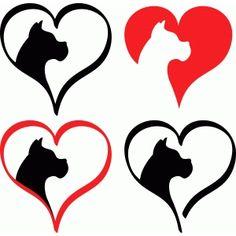 Silhouette Design Store: boxer love