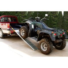 These Ironton 6ft.L x 9in.W steel ramps work together to give you a total 1,000-lb. carrying capacity (500lbs. per ramp); perfect for loading lawn tractors and ATVs. Ramps include safety straps and a textured, nonslip surface design. Pair.