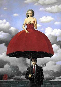 salvador dali & sadece bir adam, bir kadının elbisesinin altında olmalı…..