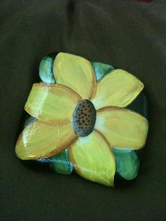 My most recent rock painting