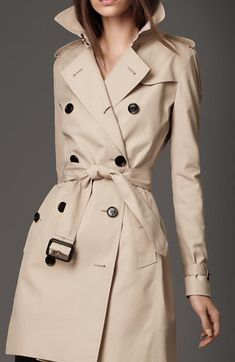 Louis Vuitton Gabardine Cotton Trench Coat #RaincoatsForWomenChic