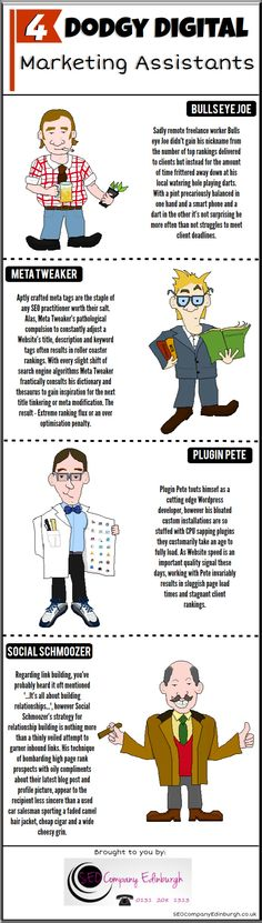 Quirky little infographic on different marketing assistants - the ones you should perhaps try to indentify and avoid.