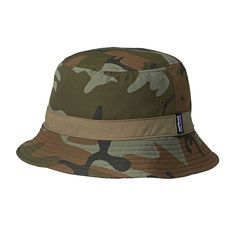 Amazon   (パタゴニア)patagonia Wavefarer Bucket Hat 29155 FCMH Forest Camo: Hickory//Brown L   帽子 通販
