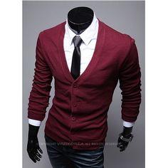 Cardigã Masculino Slim  #moda #modamasculina #inspiração #lookmasculino #lookdodia #homem #roupadehomem #dicasdemoda #cardiganmasculino #cardigan #roxo Casual, Men's Fashion, Blazer, Jackets, Outfits, Clothes, Dresses, Style, Men's Cardigans