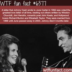 WTF Facts : funny, interesting & weird facts — Johnny Cash's love letter to Jude Carter - WTF fun. The More You Know, Good To Know, Did You Know, Just For You, Wtf Fun Facts, Funny Facts, Random Facts, Crazy Facts, Strange Facts