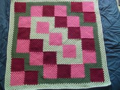 Free crochet pattern: Eventually Granny Square Blanket byBecky Simmons | This is an excellent pattern for using up scraps!