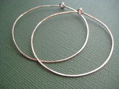 Hammered Hoop Earrings In 14k Gold Fill Or By Jewelrymadebymaggie 24 00