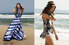 Lovely hand dyed beach fashion                            #fashion #beach #dye